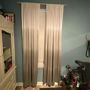 """Threshold Gray Ombre 4 Curtain Panels 52""""W X 84"""" L"""
